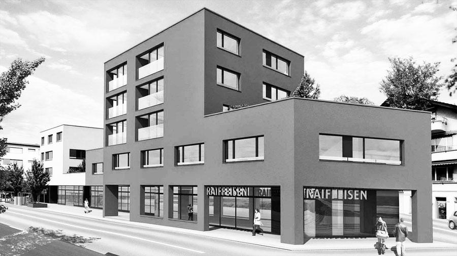 Termin vereinbaren, Augenarztpraxis im roten Haus der Raiffeisenbank, Rotkreuz