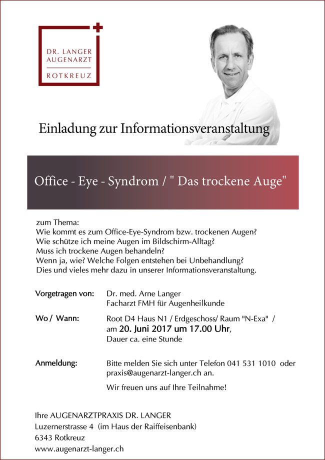 Vortrag / Info Office-Eye-Syndrom